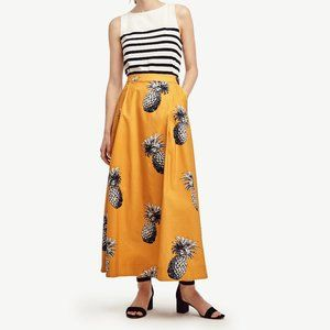 Ann Taylor Yellow Pineapple Maxi Skirt